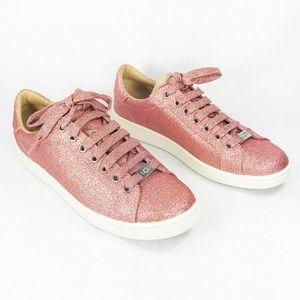NEW Ugg Women's Sneaker Milo Glitter Pink Sz 6, 7